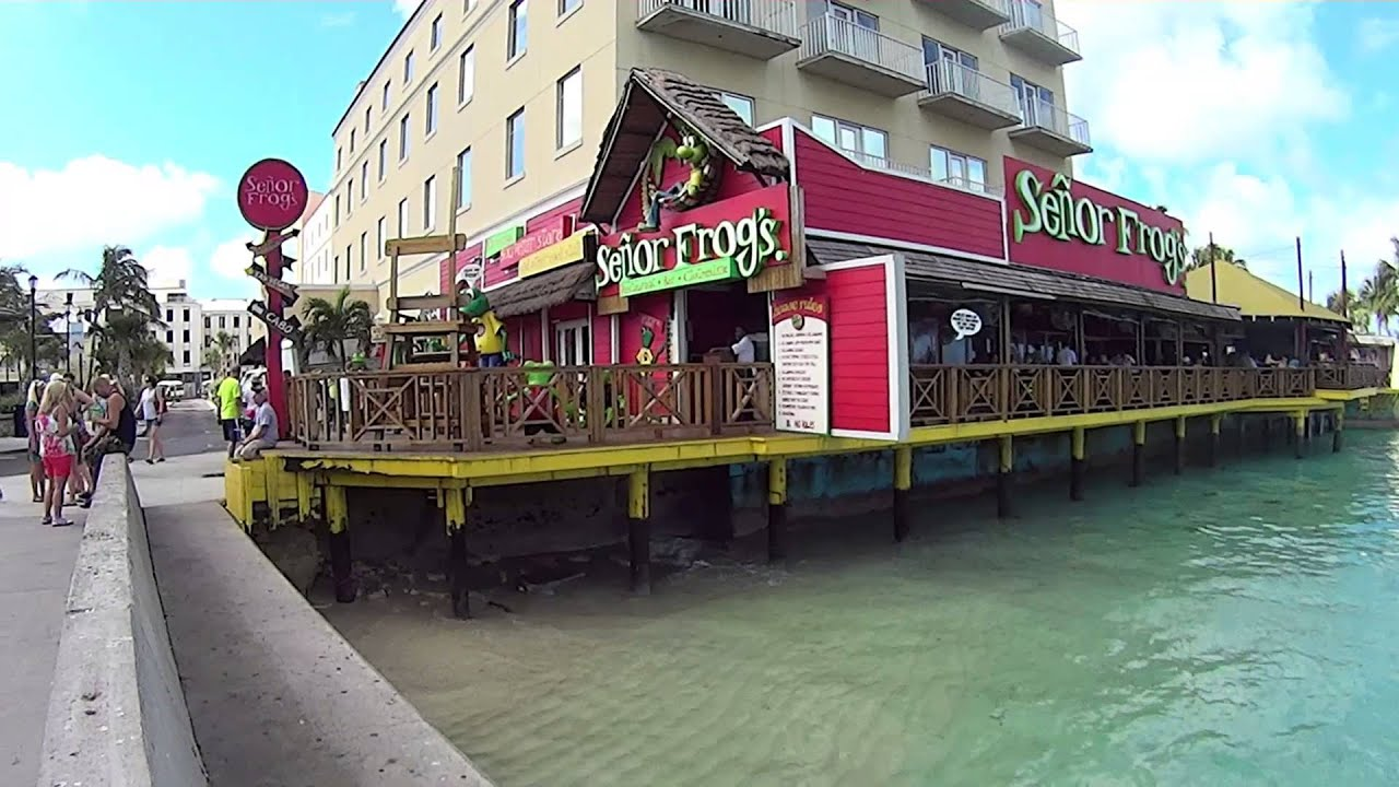 Freeport Walking From Port In Nassau Bahamas To Junkanoo Beach