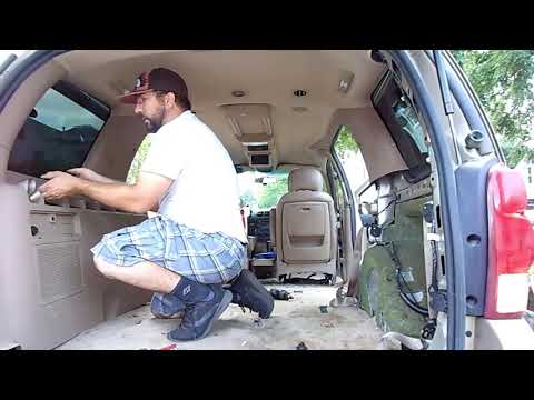 Chevy Uplander Carpet Removal And Cleaning.