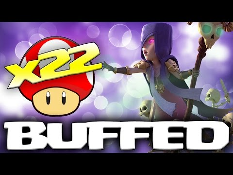 22 x NEW BUFFED WITCHES | December Update 2016 | Clash of Clans