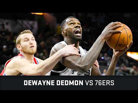 Dewayne Dedmon Highlights: 13 PTS, 2 BLK, 1 STL, 1 AST vs 76ers (02.02.2017)