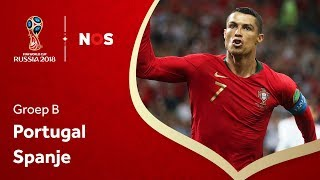 WK voetbal 2018: Samenvatting Portugal - Spanje (3-3)