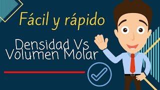 EJERCICIO SOBRE VOLUMEN MOLAR Y DENSIDAD