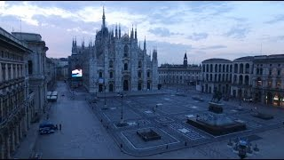Milano, Italy - Ghost Town Filmed From Above