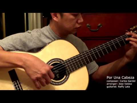 Por Una Cabeza - C. Gardel (arr. Jose Valdez) Solo Classical Guitar