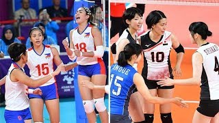 Philippines vs Japan Volleyball Updates (Scores and Statistics) - Asian Games 2018