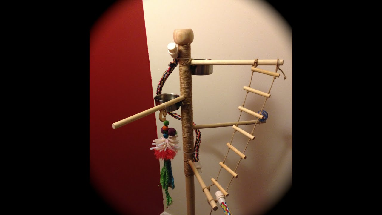diy bird play stand for 50 youtube