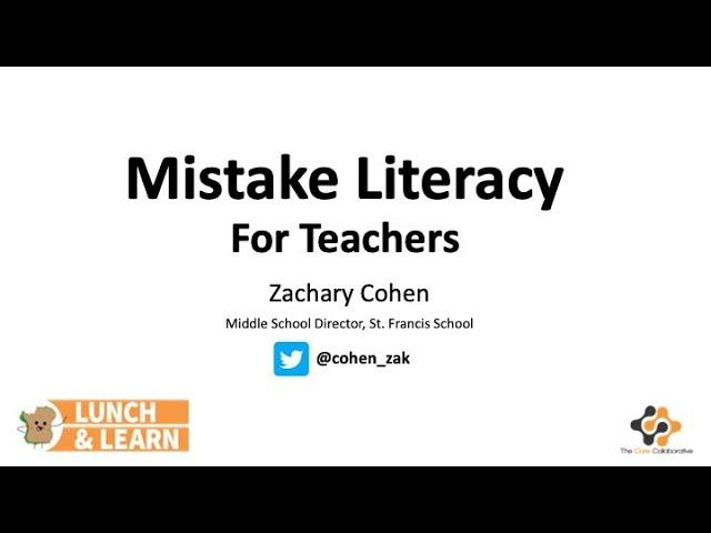 How Can Teachers Build Mistake Literacy?