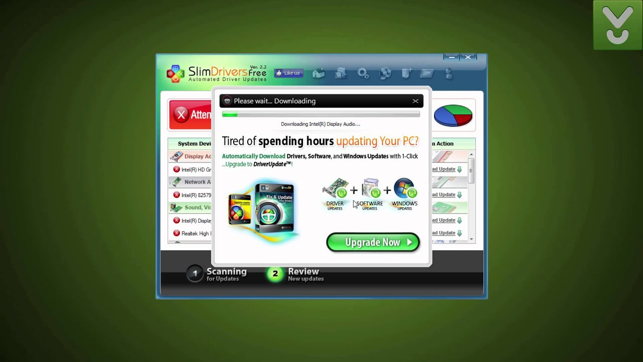 SlimDrivers Free - Update PC drivers automatically - Download Video Previews