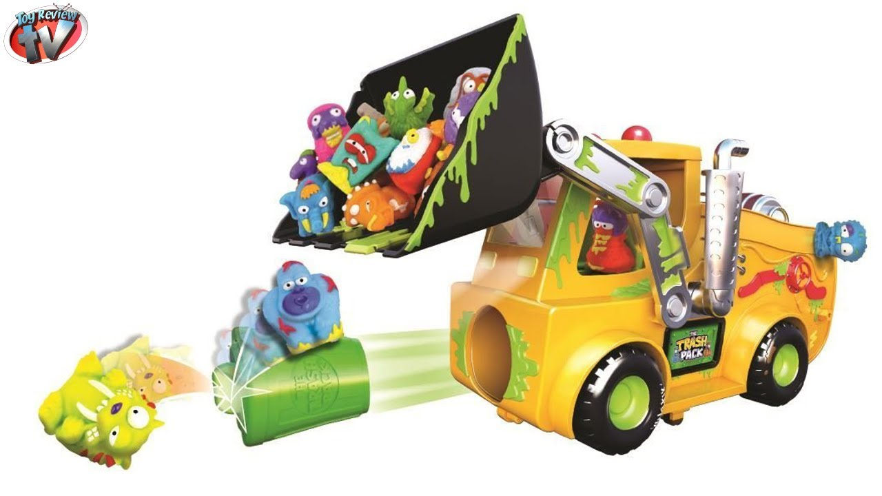 Like Toy Tv : The trash pack load n launch bulldozer playset toys video