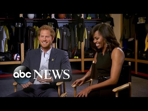 Michelle Obama, Prince Harry Interview About The Invictus Games
