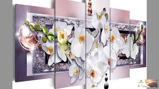 """Full Square Diamond Painting """"orchid flower"""" Multi-picture Combinatio Mosaic Painting FREE SHIPPING!"""