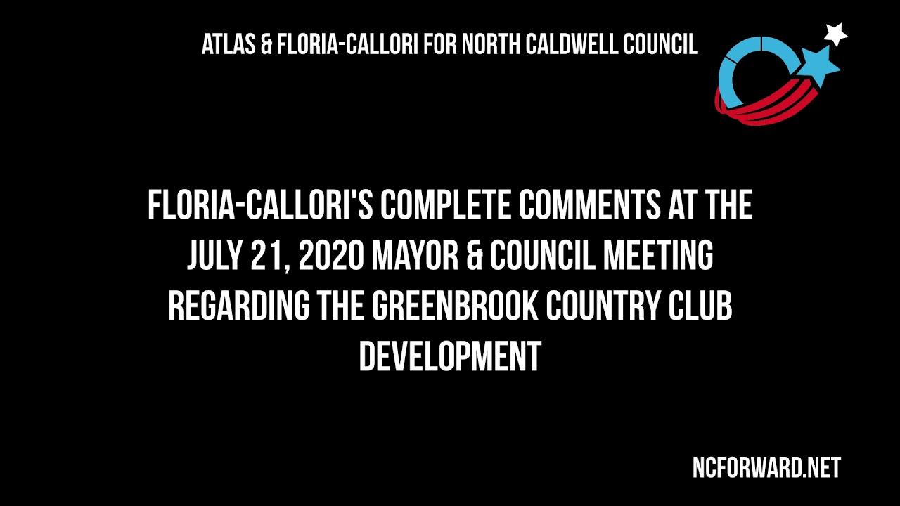 Floria-Callori's Comments at the GBCC Public Meeting