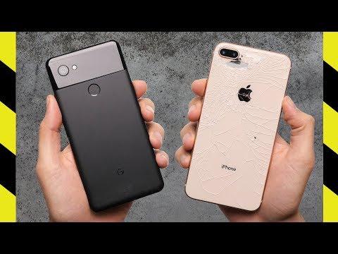 Google Pixel 2 XL vs iPhone 8 Plus Drop Test!