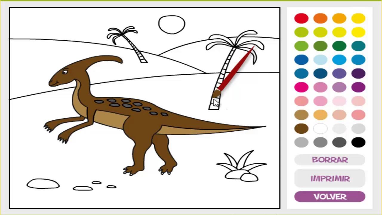 Juego De Colorear Dinosaurios Para Niños