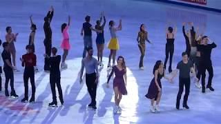 European Championships 2018 Moscow Gala ending - G.Papadakis dances Kalinka