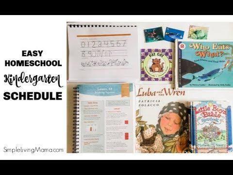 Homeschool Kindergarten Schedule Homeschool Ditl