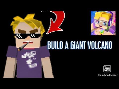 BUILDING A GIANT VOLCANO!!!(BLOCKMAN GO-BED WARS)