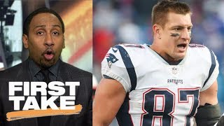 Stephen A. Smith says Rob Gronkowski deserves to be suspended for hit | First Take | ESPN