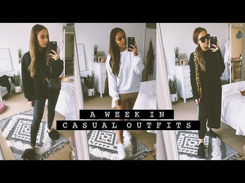A WEEK IN CASUAL OUTFITS  Hello October Vlogtober
