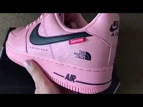 64902ddf2e8e Pink Nike Air Force one x the north face x supreme low (mksole.cn ...