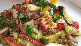 Эттуу ачуу салат 🥗. Мясной острый салат.