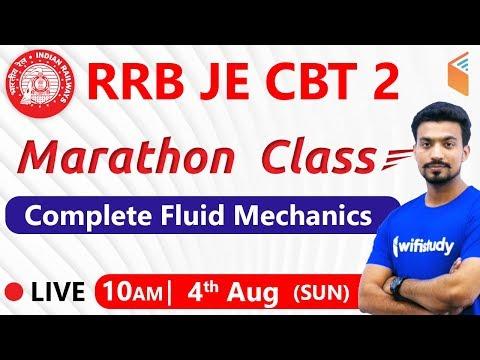 10:00 AM - RRB JE 2019 (CBT-2) | Complete Fluid Mechanics By Sandeep Sir (Marathon Class)