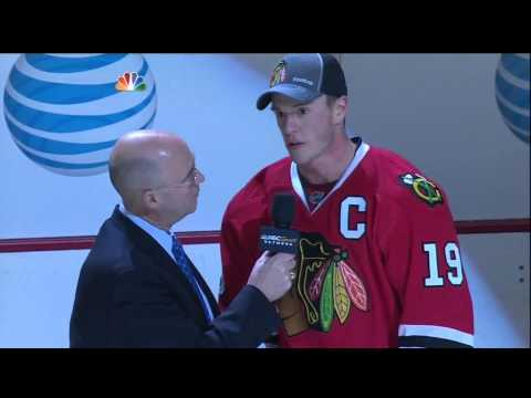 03/06/13 Jonathan Toews' post-game interview with Pierre McGuire