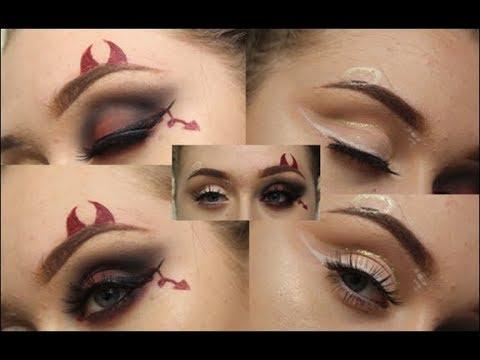 Halloween Makeup Devil And Angel.Angel Devil Halloween Makeup Jasminnneamy