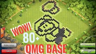 80 MOST BEAUTIFUL AND CREATIVE BASE DESIGN || CLASH OF CLANS