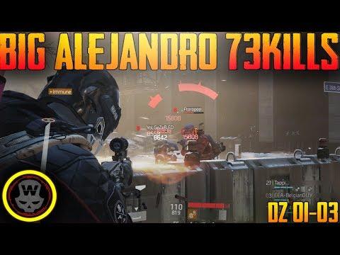 73 KILLS SOLOQ BIG ALEJANDRO LAST STAND gameplay (The Division 1.8)