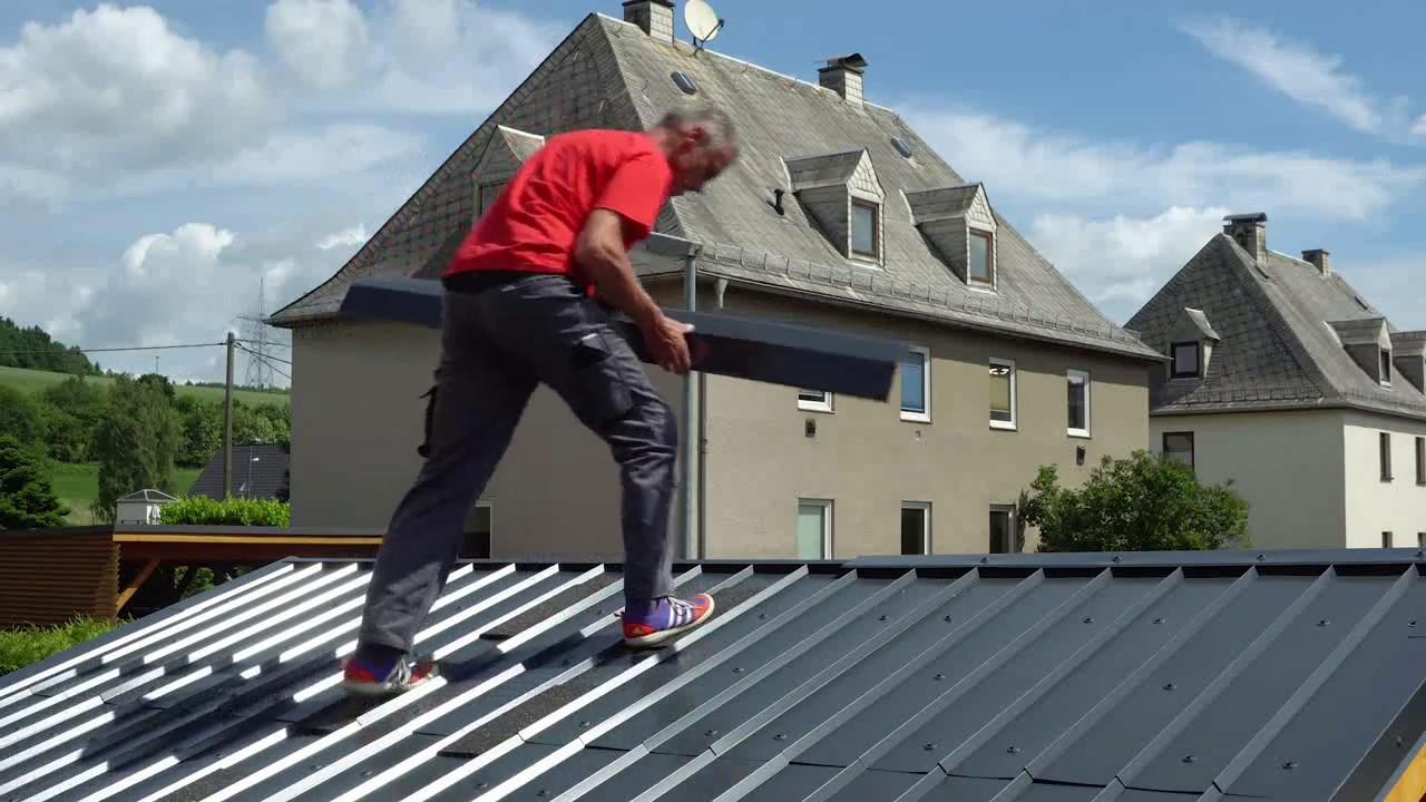 Großartig Montage SDF Dach- und Fassadensystem aus Aluminium / Installation  AE63