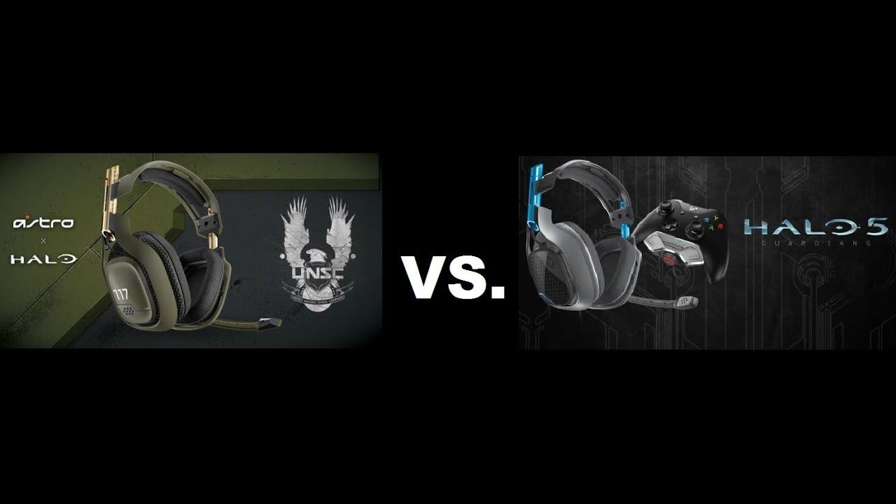 3b47f269e4e Astro A50 VS. A40 Halo 5 edition headsets - YouTube