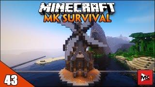 Xây Dựng Cối Xây Gió Giữa Biển Khơi - Minecraft MK Survival [43] | MK Gaming