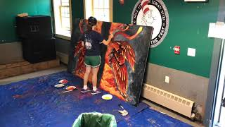 Painting a Dartmouth pong table