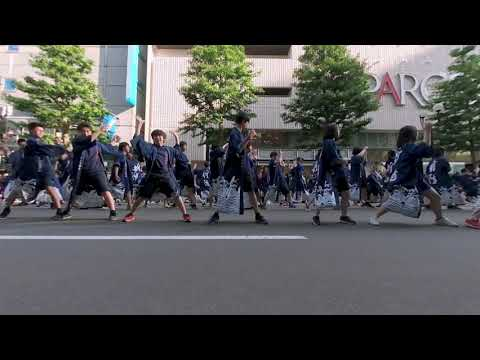 【VR180 VuzeXR】 新陽高校 TEAM愛~Love~ 2019-06-08 『YOSAKOIソーラン祭り2019』三越前