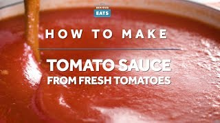 How to Make Tomato Sauce from Fresh Tomatoes