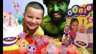 Oonies New Toys | Hulk and Carter have fun playing with Oonies | Toy Review In Real Life