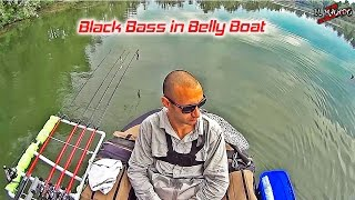 Black Bass in Belly Boat - Black Bass on Float Tube