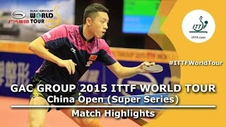 China Open 2015 Highlights: FAN Zhendong vs XU Xin (1/2)