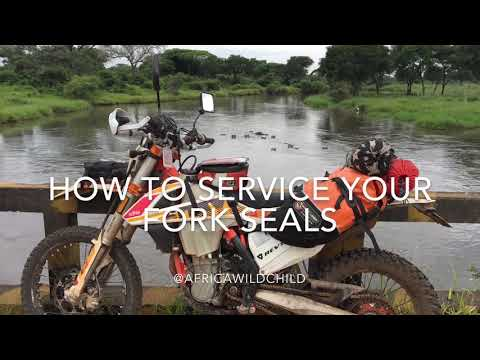 DIY: How to service fork seals KTM 500 EXC Six Days