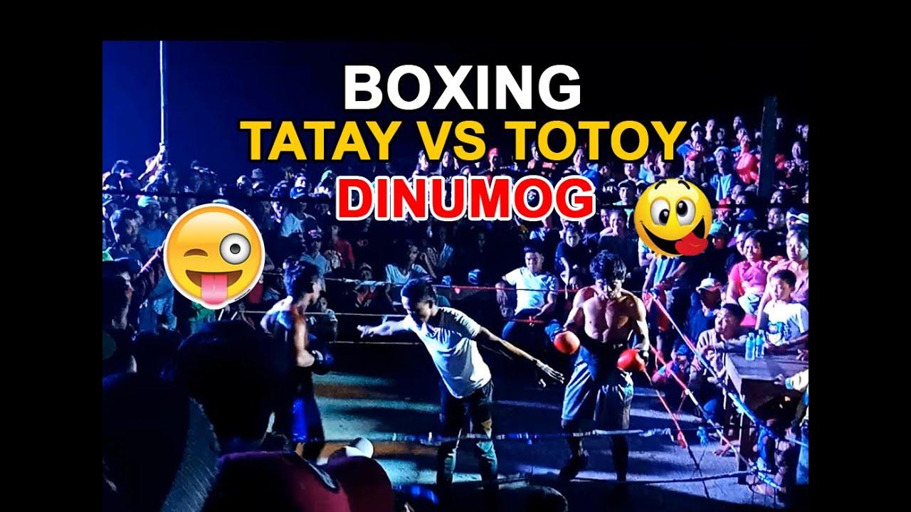 Tatay vs Totoy - Matinding Boxing bakbakan sa isang barangay dinumog