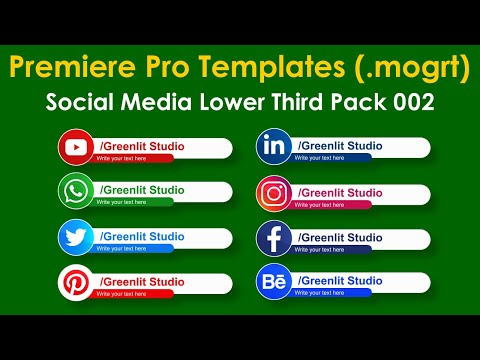 Premiere Pro Template - Social Media Lower Thirds Pack 002 ( Mogrt File Free Download )