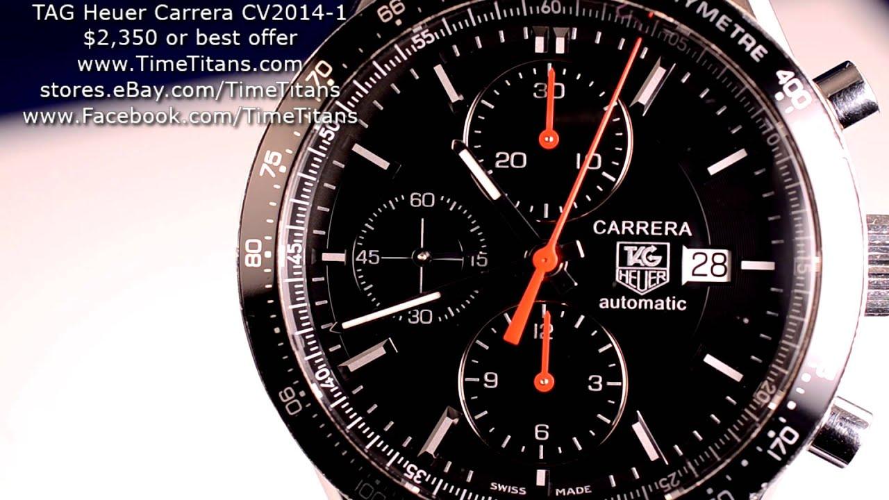 This Tag: TAG Heuer Carrera CV2014-1 41MM 50M Exhibition Calibre 16