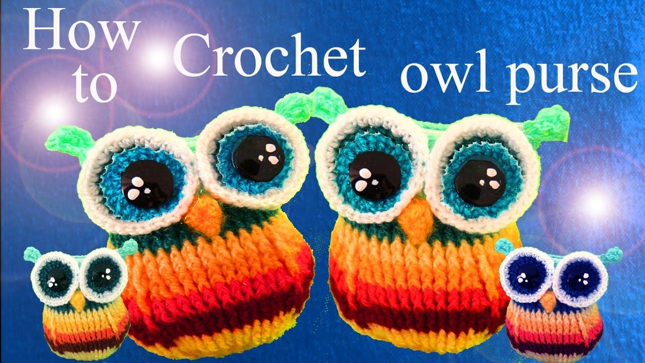 Monedero tejido a Crochet en forma de búho bebé ideas para regalar a ...