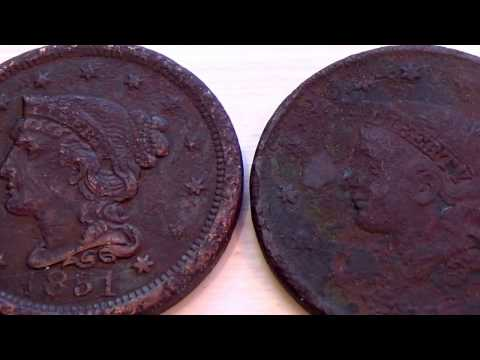 1851 and ???  Big One Cent Liberty Coins