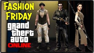 GTA 5 Online - FASHION FRIDAY! (The Terminator, Rey from Star Wars The Force Awakens & More)