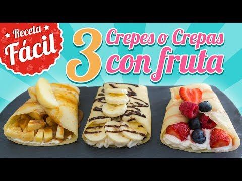CREPS O CREPAS CON FRUTAS | Recetas fácil | Quiero Cupcakes!