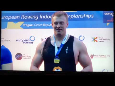2020 European Rowing Indoor Championships. Open 500m: Men's (1:14.2) & Womens (1:33.8) - Concept 2