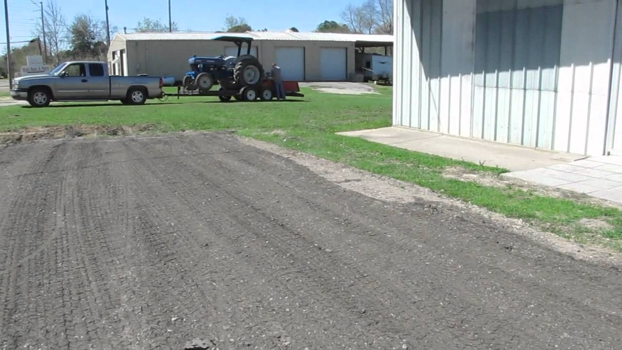 Crushed Asphalt Spread And Leveled Youtube
