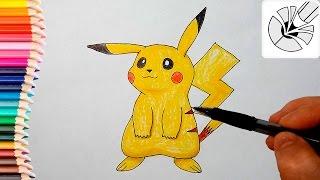 Как нарисовать Пикачу карандашом (Покемон) - Рисование и раскраска для детей